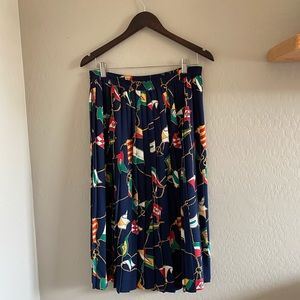 Vintage Alfred Dunner printed pleated skirt | 12
